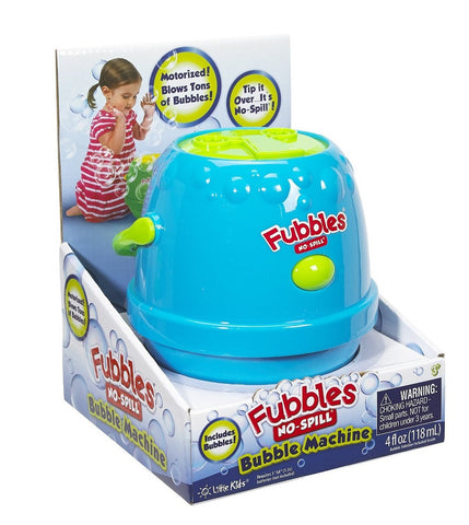 Fubbles No-Spill Bubbles Machine by Little Kids -  Colors Vary