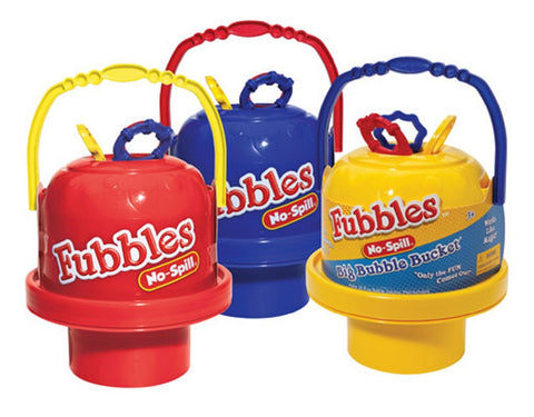 Fubbles No Spill Big Bubble Bucket by Little Kids -  Primary Colors Vary