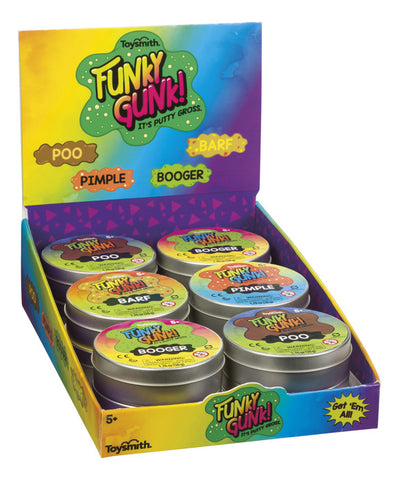 4-Pack of Funky Gunk Slime by Toysmith