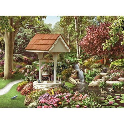 Garden Scene Jigsaw Puzzle 1000 Piece with 20 Theme Shaped Pieces