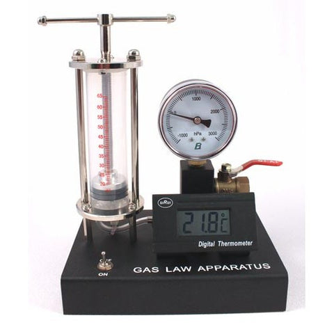 Advanced Gas Laws Demonstration Kit w/Pressure Gauge & Digital Temperature Gauge