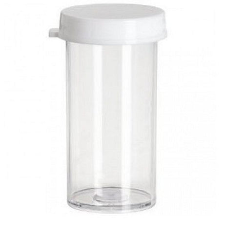 Plastic Snap Cap Vials: 40 Dram: Pack of 100