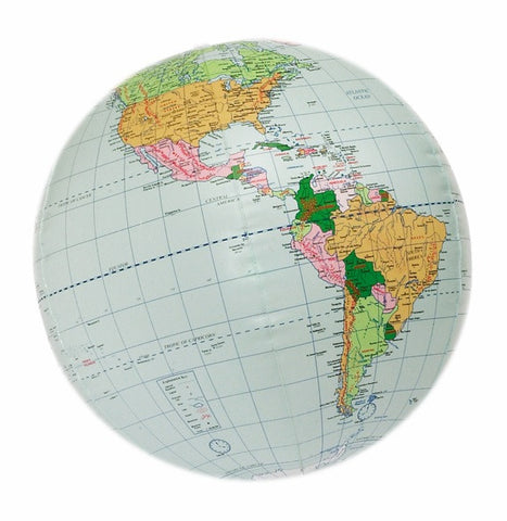 Inflatable Globe - Geopolitical with Country & City Names
