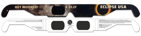 The Eclipser Safe Solar Eclipse Glasses CE Certified, 'Get Mooned' Frame - 3 Pack
