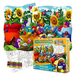Puzzle Doubles-Giant Backyard Bugs-30 Pc Puzzle & Coloring Activity Set