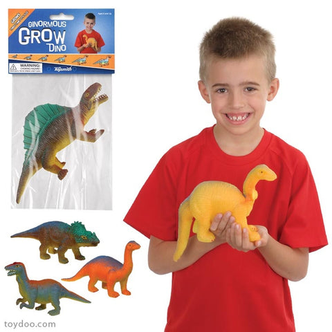 Pack of 3 Ginormous Magic Growing Dinosaurs Grows 5.5 to 14 inches