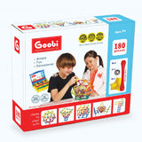Goobi Magnetic Construction Set - 180 Pieces - STEM Learning
