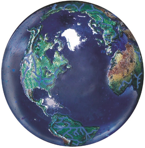 Natural Blue Earth Marble Magnet - 22 mm Diameter