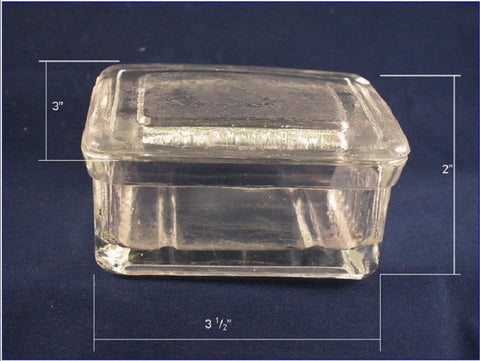 Glass Slide Box w/ Cover: Holds up to 10 Slides