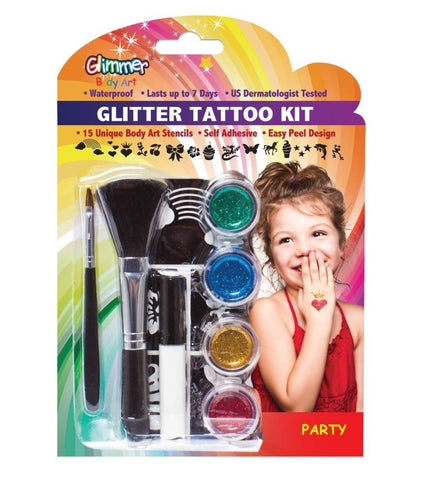 Glimmer Body Art - Glitter Tattoo Kit - PARTY