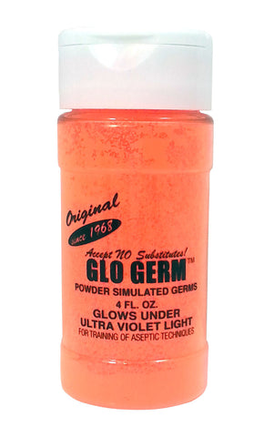 Orange Glo Germ Powder 1.9 ounce Simulates Germs Teach Hygiene Safety