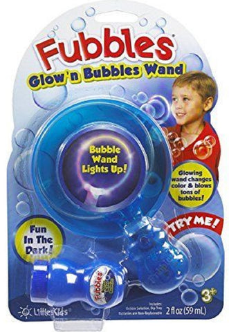 Fubbles Glow'n Bubbles Wand By Little Kids - Colors Vary