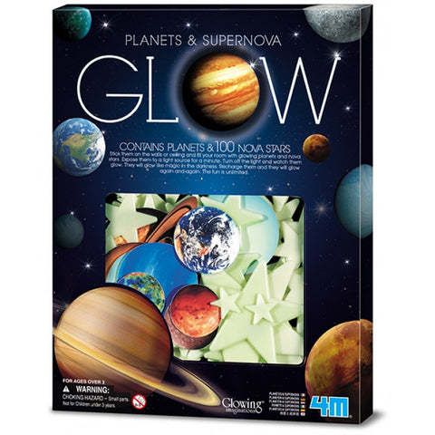 Planets & SuperNova Glow in the Dark Planets & 100 Star by 4M