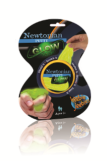 Fluorescent Glow-In-The-Dark Newtonian Putty - Dilatant Non-Newtonian Fluid