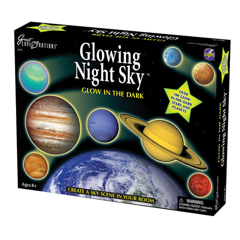 Glowing Night Sky Scene and Solar System Mobile by University Games