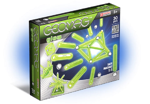 Geomag Glow Classic Magnet Construction Set - 30 Piece Magnetic Kit - STEM Compatible