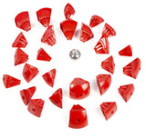Geomag Kor Egg - Red Magnet Construction Set - 55 Piece Magnetic Kit - STEM Compatible