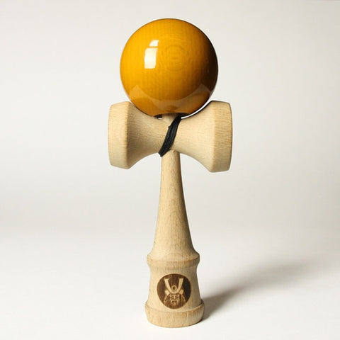 Samurai Kendama w/Goldenrod Colored Ball, by Bushido Kendama