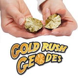 Gold Rush Geodes Kit w/Safety Glasses, 7 Golden Geodes & Guide Book