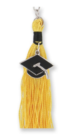 Graduation Tassel Key Chain in Gold