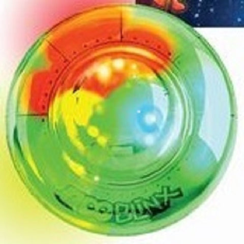 Goo Blinx UFO Flashing Translucent Putty in GREEN Spaceship