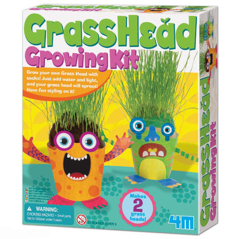 Grow Your Own GrassHead Monsters Kit By 4M