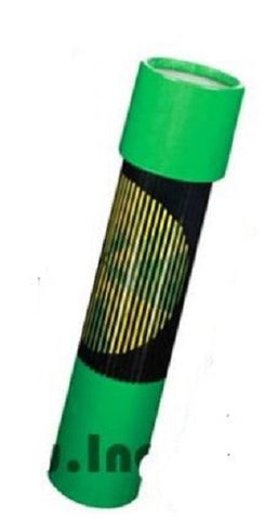 GREEN Op Art Kaleidoscope Toy Optical Illusion 7.5 Inches