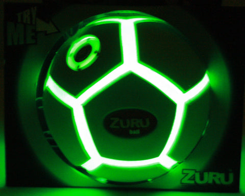 Night Sports Light-Up Soccer Ball/ Flashing Green Glow By: Hedstrom Toys