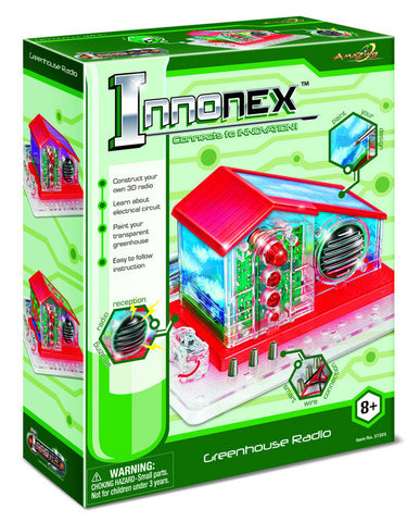 Innonex Build and Paint Your Own Greenhouse Radio by Amazing  Toys