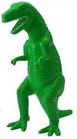 Tyrannosaurus Rex Ceramic Figure Green 10 Inches Tall