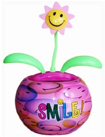 SMILE! Groovers Solar Dancing Flower with Adhesive Base