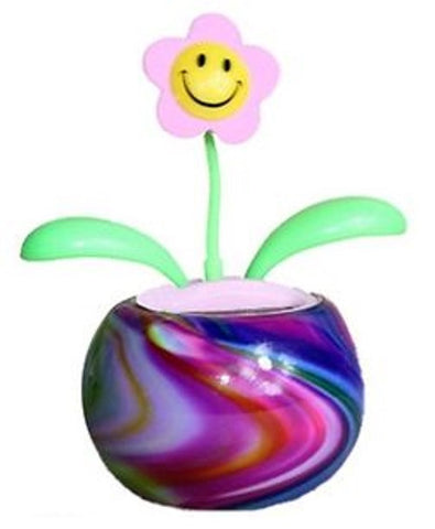 Groovers Tie-Dye Solar Dancing Flower with Adhesive Base