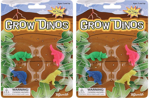Grow Dinos - Magic Growing Dinosaurs - 2 Packs of 4