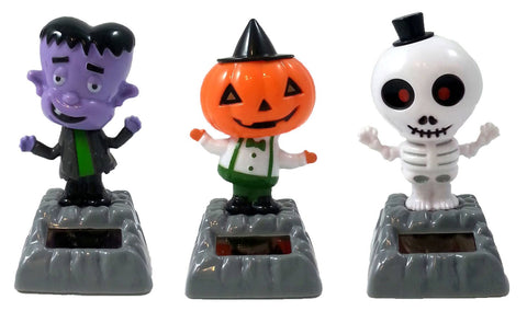 Solar Powered Dancing Halloween Set of 3