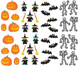 Mrs. Grossman's Halloween Stickers, Set A - Jack-O-Lantern, Witches, Bats & Skeletons