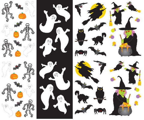 Mrs. Grossman's Halloween Stickers, Set B - Ghosts, Witch ...
