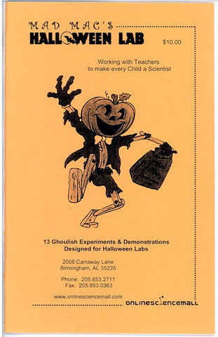13 Ghoulish Experiments for Halloween Instruction Booklet - Online Science Mall