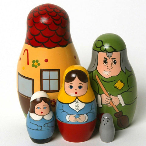 Hansel & Gretel Matryoshka Russian Nesting Dolls - Set of 5