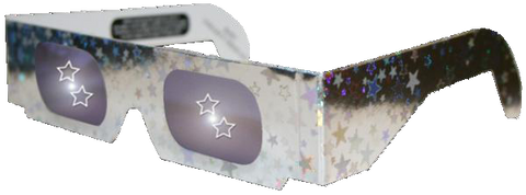 Five Point Star Holographic Lens Glasses - Style & Frame Vary