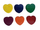 Painted Ceramic Heart Shaped Magnets - Pack of 6 Assorted Colors