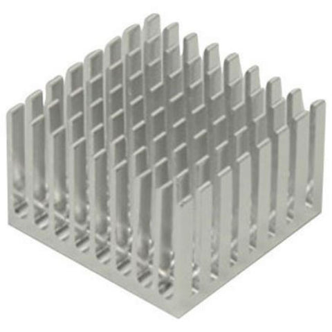 "1.56"" x 1.56"" x 1"" Aluminum Heat Sink by Artec - Online Science Mall"