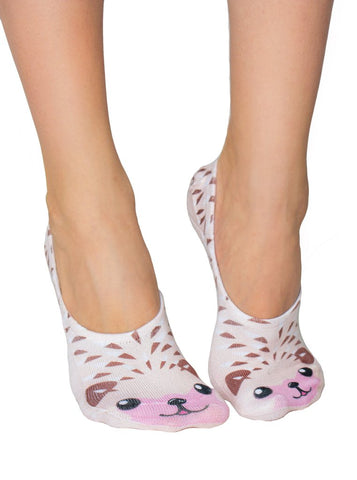Hedgehog No-Show Liner Socks OSFM by Living Royal