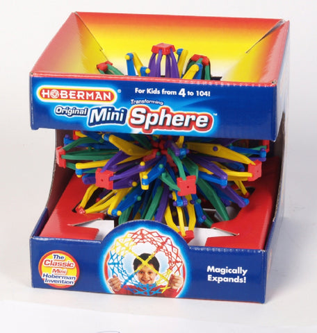 Hoberman Original Rainbow Mini Transforming Sphere Toy