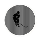 Hockey Player Medium 5.5 Inch CineSpinner Animated Suncatcher