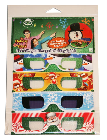 Free Gift of 4 Pk Holographic Christmas Glasses with Purchase of $100.00 or Higher - One Gift Per Order