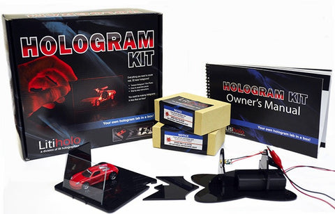 Litiholo Hologram Making Kit w/20 Holographic Plates & Test Object