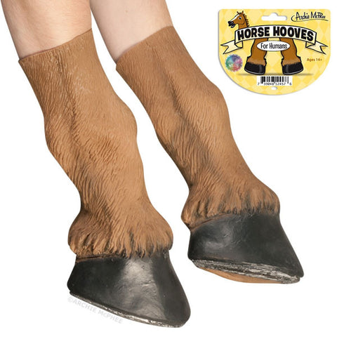 Realistic Pair of Horse Hooves for Humans - Latex Halloween Costume