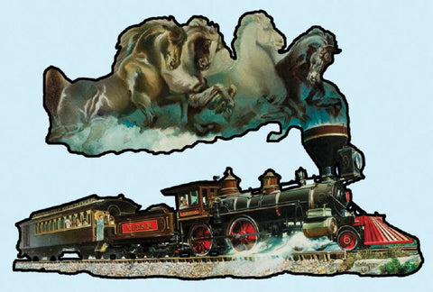 Horse of Iron - Steam Engine Locomotive Train Shaped Jigsaw Puzzle 1000 Piece