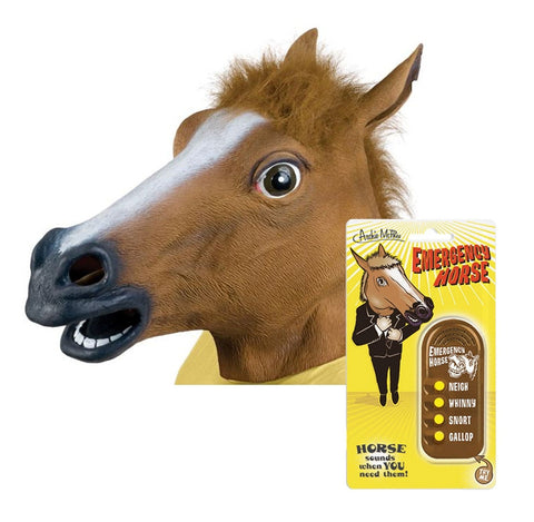 Realistic Horse Mask and Sound Maker Combo