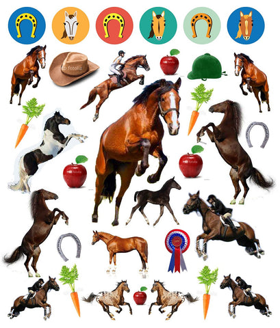 Eyelike sticker book horses w 400 reusable stickers